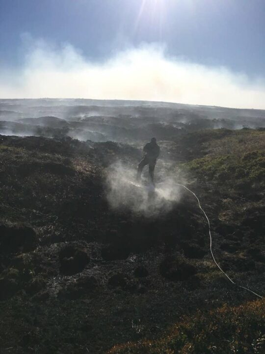The fires are small and carefully controlled so they don't spread or damage the peaty soil.