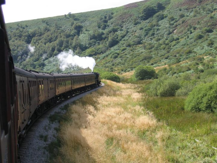 When leaving Pickering (direction Whitby) the steam train passes a beautiful and solitary vale...