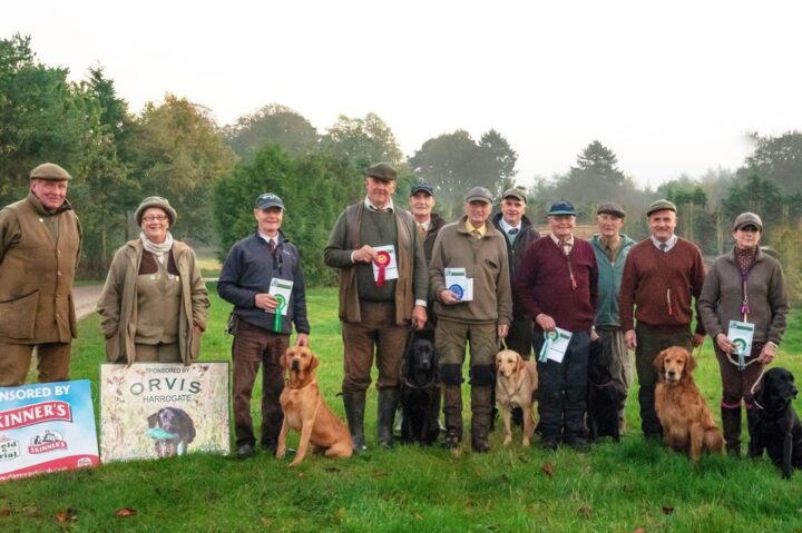 24.10.19: Fake became 2nd at the All Age trial of the 3Rs in Wyekham. (1  Paul Stogden with Routengill Apollo. 2 Daniel Marx with Lockthorn Fake. 3 Glyn Coupar with Glenmorasie Gold. 4 Glyn Sykes with Liverycroft Frisco Tornado.)