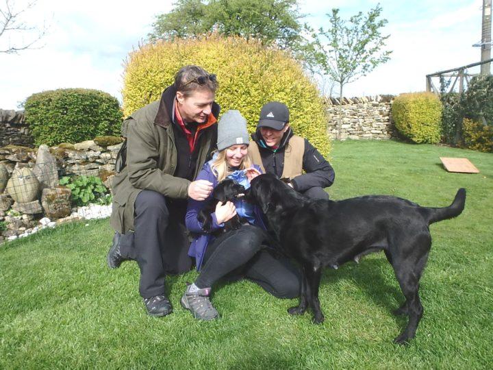 "Lockthorn Flinn (""Mr Light Blue""), dog, born on the 27th of February 2017 at 03.05 a.m., 365gr. Weight on 24th of April: 6180gr"