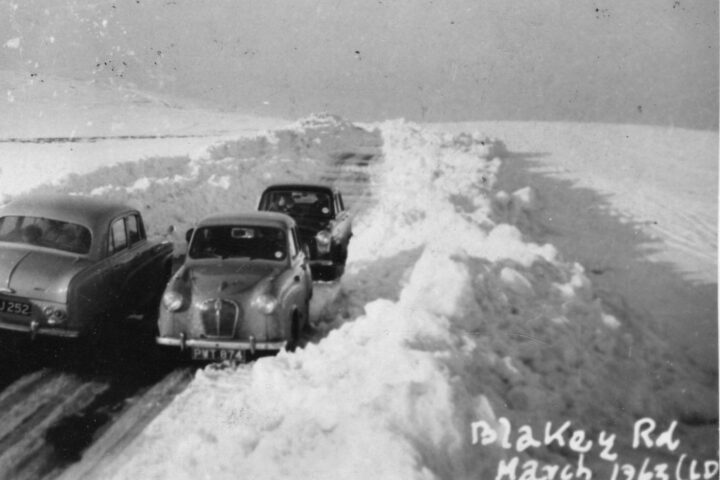And indeed - an old photo from 1963 shows how high the snow drifts had been (photo seen at Ryedale Folk museum).