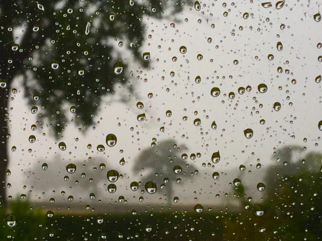 We had rain...