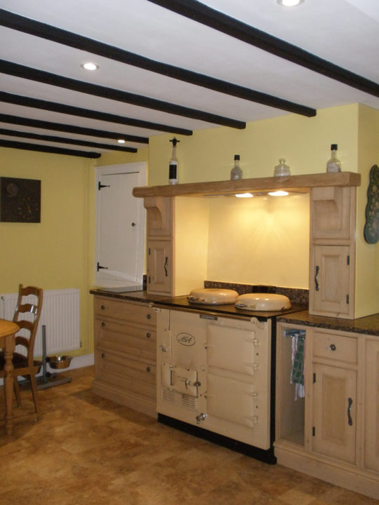 And here it is: Our new kitchen with our old AGA!
