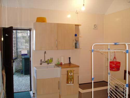 Und hier das Fertigprodukt: Die wohl die luxuriöseste Waschküche in den North York Moors!!!