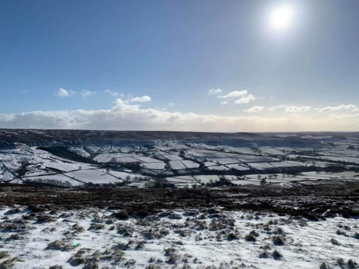 ...and snow on the moors!